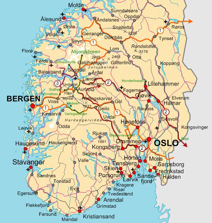 Norjan Tiekartta